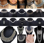 Lots Fashion Jewelry Crystal Chunky Statement Pendant Chain Bib Chocker Necklace
