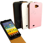 PU Leather Stand Vertical Flip Case Cover for Samsung Galaxy NOTE i9220 LOT