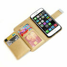 Flip PU Leather Wallet Card Holder Stand Phone Case Cover For Apple iPhone Phone