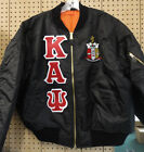Kappa Alpha Psi Black MA-1 Flight Jacket with Letters and Crest Size S thru 5XL