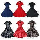 Women Vintage Style Retro Pinup Swing Formal Cocktail Dance Summer Party Dress
