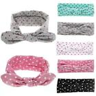 Baby's Cute Bow Polka Dot Head Wrap Headband Turban