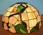 Floral stained glass lamp shade-150318K