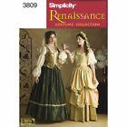 NEW SIMPLICITY TUDOR RENAISSANCE SCA DRESS GOWN PATTERN 3809 UNCUT sizes 4-20