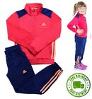 adidas Girls Full Tracksuit Poly Suit Junior Kids Infant Top Bottoms Age 2-10