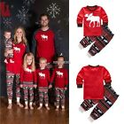 Christmas Kids Baby Girl Boy 2T-7T Reindeer Home Sleepwear Nightwear Pajamas Set