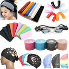 Sports Muscles Care Tape Swimming Cap Glasses Teeth Protection Head Band Bracer