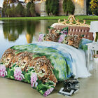 3D Home Duvet Cover Pillow Case Quilt Cover Bed Set Noble Queen King Leo Forest