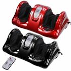 Red/Black Kneading Rolling Foot Leg Massager Calf Ankle w/Remote Personal Health