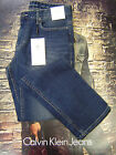 CALVIN KLEIN MEN'S SLIM STRAIGHT FIT ZIP FLY STRETCH JEANS AUTHENTIC BLUE