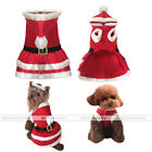 Lovely Pet Dog Dress Santa Claus Clothing Christmas Warm Puppy's Costume