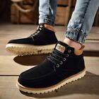 Men's Lace Up Nubuck Ankle Martin Boots British Style Work Casual Fashion Shoes