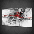 RED GREY BLACK PAINT SPLASH ABSTRACT CANVAS WALL ART PRINT PICTURE READY TO HANG