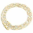 Real 10K Tri-Tone Gold Solid Valentino Link Chain 2.75mm Necklace 16 - 24 Inches image