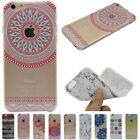 Rubber Gel Soft TPU Silicone Pattern Case Cover For Iphone 5S 6 6S 7 Plus SE