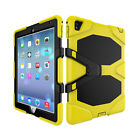 For iPad Tablet Shockproof Military Armor Rubber Hard Case + Screen Protector