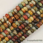 """Gorgeous Picasso Jasper Abacus Rondelle Loose Beads 15.5"""""""