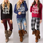 Christmas Women's Hoodie Sweatshirt IT'S COLD OUTSIDE Pinted Blouse Pullover Top