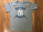 T-Shirts Sizes S-2XL Mens Majestic Threads New York Yankees Tri Blend Tee Shirt
