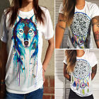 Fashion Women Ladies Summer Loose Top Short Sleeve Blouse Casual Tops T-Shirt