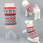 US Pet Dog Christmas Clothes Costumes Puppy Cat Knit Sweater Coat Hoodie Apparel