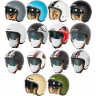 New Spada Motorcycle Bike Moped Protective Open Face Safety Helmet Size XS-XL