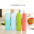 1 Pc Protable Outdoor Travel Toothbrush Storage Box Holder Toothpaste Towel Cup