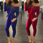 Womens Casual Long Sleeve Bodycon Romper Jumpsuit Club Sexy Playsuits Pants