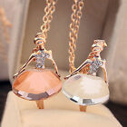Women's Jewelry Plated Crystal Ballet Ballerina Dancer Long Sweater Necklace