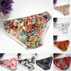 4 PACK 100% Pure Silk Women's Low Waist Printed Underwear Lingerie Panties