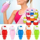 520ml BPA Free Silicone Water Bottle Safety Outdoor Sports Portable Foldable Mug