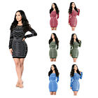 Women Bandage Bodycon Long Sleeve Evening Sexy Party Cocktail Pencil Mini Dress