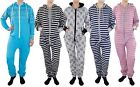 New Unisex Ladies Mens Print Stripes Hooded Aztec One piece All In One Jumpsuit