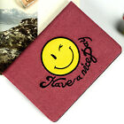 Cute Smile Face Canvas Flip Stand Case Cover For Apple iPad / Air /Mini /Pro