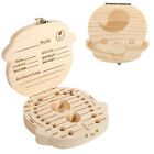 Lovely Baby Teeth Hair Save Box Wood Storage Box For Boy&Girl Tooth Organizer