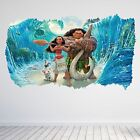 Moana Cartoon Film Childrens Kids 3D Hole Wall Sticker Decal Art Vinyl Poster