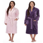 Ladies Forever Dreaming Plain Super Soft Shawl Collar Dressing Gown Robe