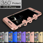 360° Protection Acrylic Hard Case + Tempered Glass Cover For Apple iPhone 6 6S 7 фото