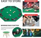 Octagon Poker Table Green Layout Folding  Pro Style Padded Top CupHolders 8 Seat $59.66 USD
