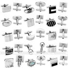 Pair Stainless Steel Men's Shirt Cufflinks Cuff Link Business Wedding Party Suit