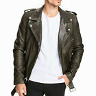 Fashion Mens Biker Motorcycle Faux Leather Jacket Casual Slim Tops Coat Outwear