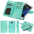 Luxury Leather 9 Credit Card Slot Holder Flip Wallet Case for Galaxy S7/ S8 Plus