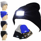 5 LED Lighted Cap Hat Winter Warm Beanie Angling Hunting Camping Running Sports