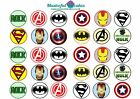 30 x Avengers Logo Edible Cup Cake Toppers Rice Paper or Icing