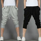 Casual Mens Hip Hop Baggy Sweat Sport Harem Capri Shorts Cropped Trousers Pants