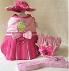 Dog Dress, Hat, Leash, Panty BUTTERFLY BABY - M or L