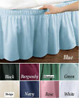 WRAP AROUND BED RUFFLE / BED SKIRT 6 DIFFERENT COLORS TWIN/FULL & QUEEN/KING 14""