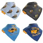 JCB Official Unisex Baby Snap Fastened Bandana Bibs (Pack Of 4)