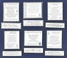 6 Wedding Verse Toppers W/WO Matching Sentiment Message Banners*Silver & White