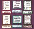 Just For Men Male Birthday Verse Toppers W/WO Matching Sentiment Message Banners